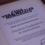 Jozef Ondriáš ocenený In memoriam