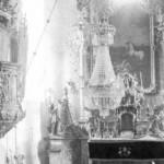 Kostol v Chminanskej novej vsi na historickej fotografii